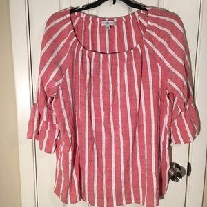 Striped Fever Bell Sleeve Top Size 2X
